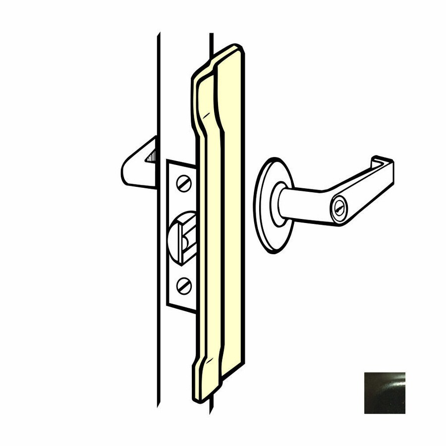 DON-JO 6-in H x 1.5-in W Duro Coated Stainless Steel Outswing Commercial Door Latch Guard