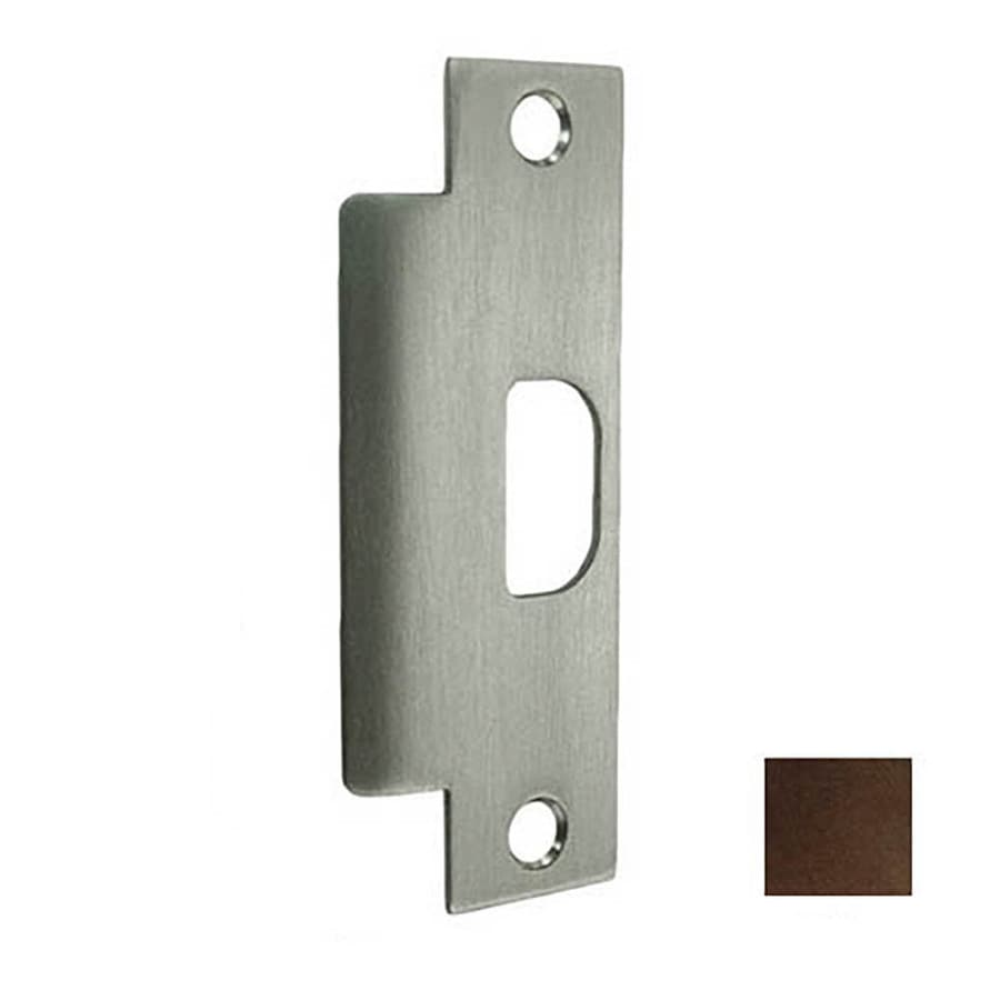 DON-JO Bronze Entry Door Commercial Strike Plate