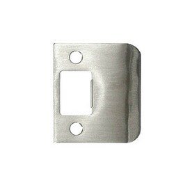 Beau DON JO Stainless Steel Entry Door Standard Latch Strike Plate