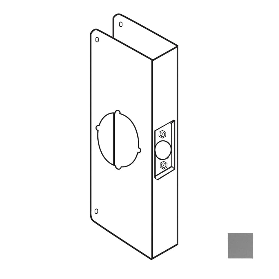 DON-JO 4.25-in x 9-in Satin Stainless Steel Entry Door Reinforcer