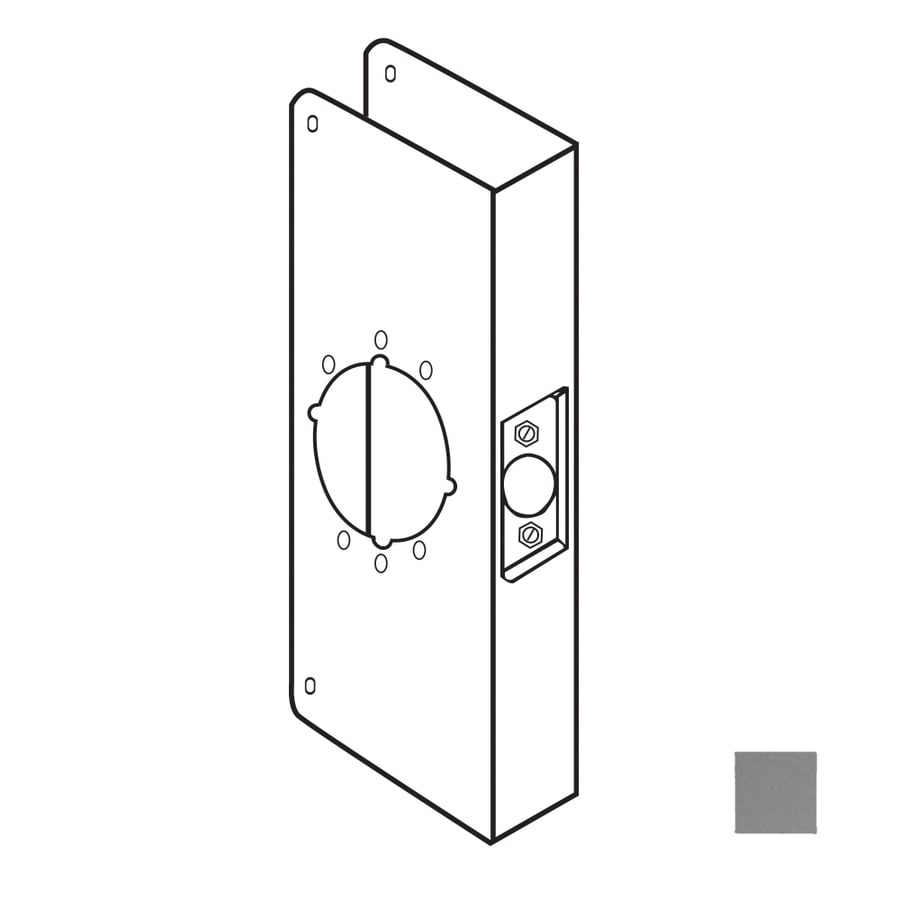 DON-JO 4.75-in x 9-in Satin Stainless Steel Entry Door Reinforcer