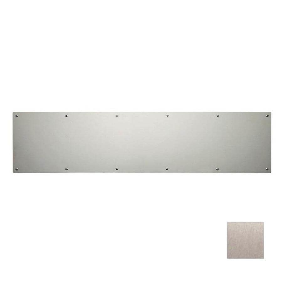 donjo 34in x 6in satin nickel entry door kick plate
