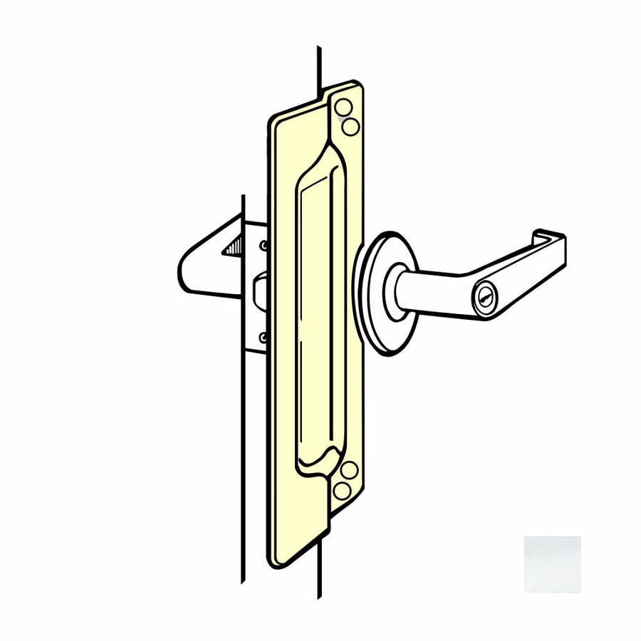 DON-JO 11-in H x 3-in W Satin Stainless Steel Outswing Commercial Door Latch Guard