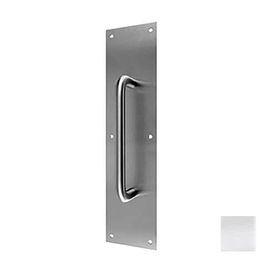 DON-JO 4-in x 16-in Satin Stainless Steel Entry Door Pull Plate