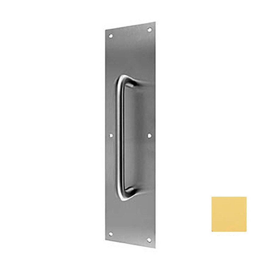 DON-JO 4-in x 16-in Bright Brass Entry Door Pull Plate