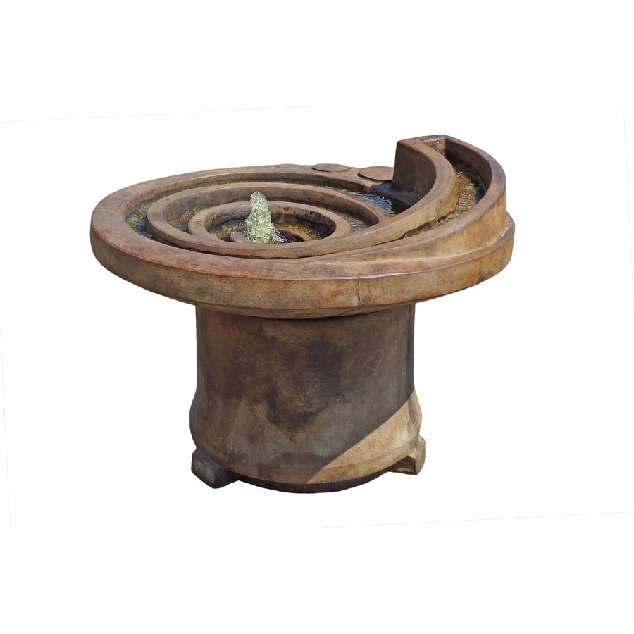 Henri Studio Patio 1-Tier Indoor/Outdoor Fountain with Pump