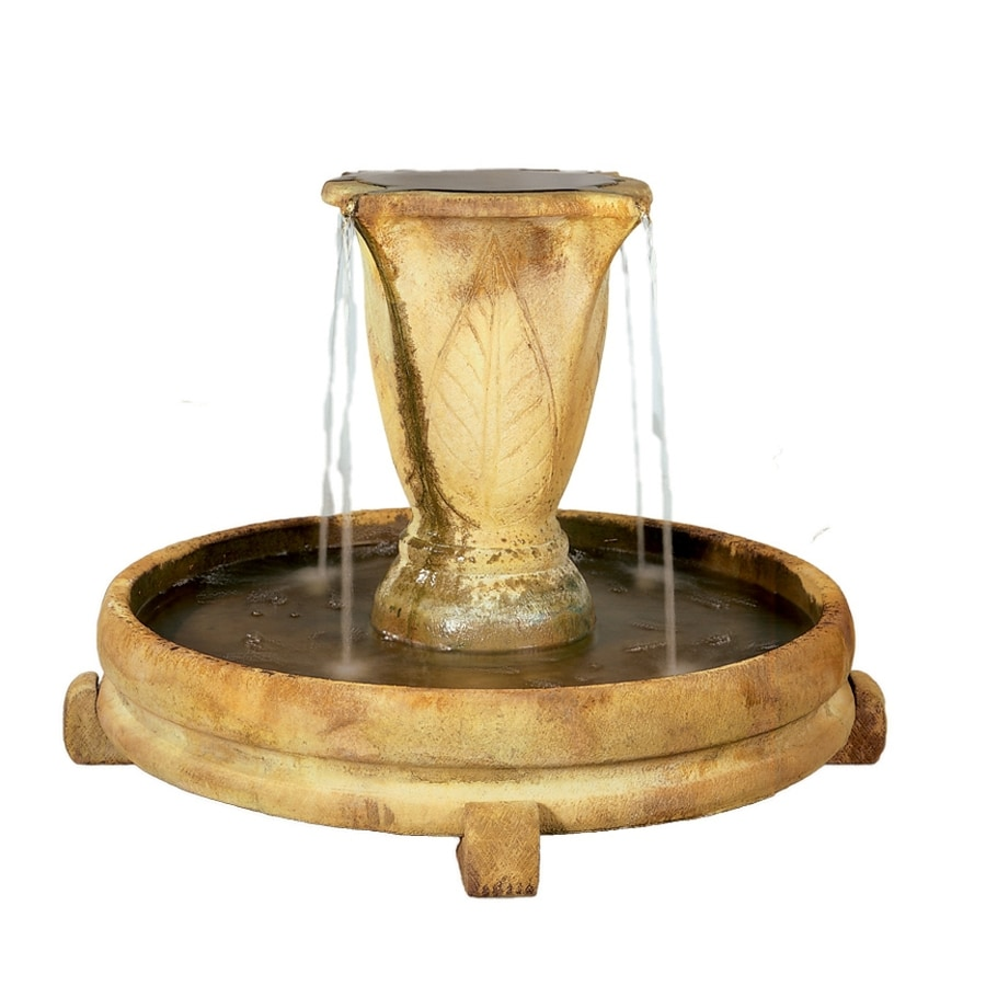 Henri Studio Overflowing Vase Centerpiece 1-Tier Outdoor Fountain with Pump