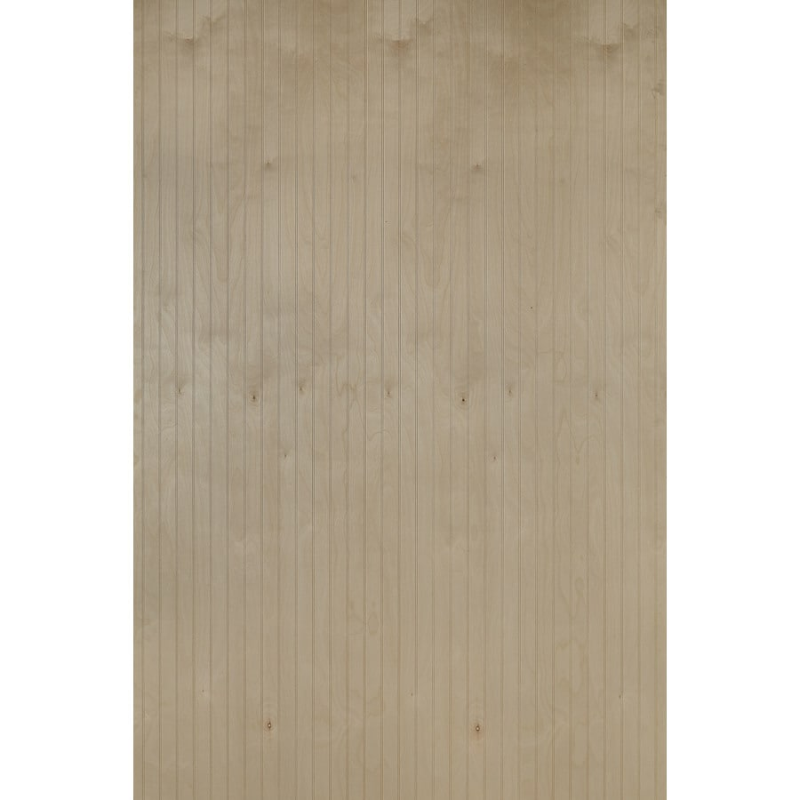 Snavely Forest Products 48-in x 8-ft Double Bead Birch Import Hardwood/Plywood Wainscoting Wall Panel