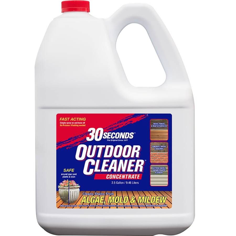 30 Seconds Outdoor Cleaner 2 5 Gallon Concentrate Algae