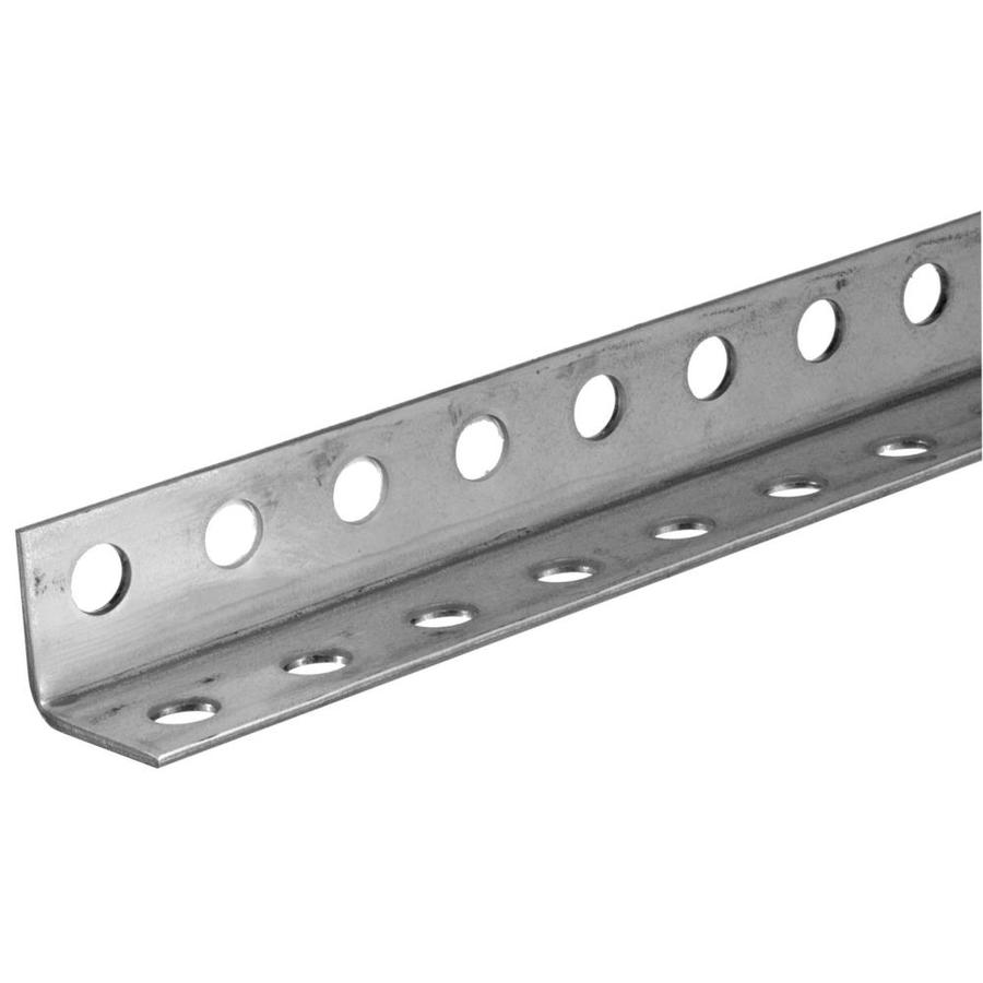 Steelworks 3-ft x 1.25-in Plated Steel Perforated Angle