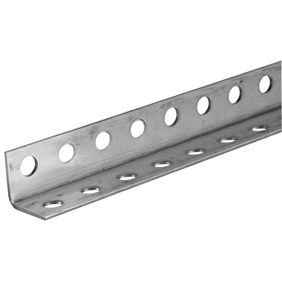 Steelworks 4-ft x 1.25-in Plated Steel Perforated Angle