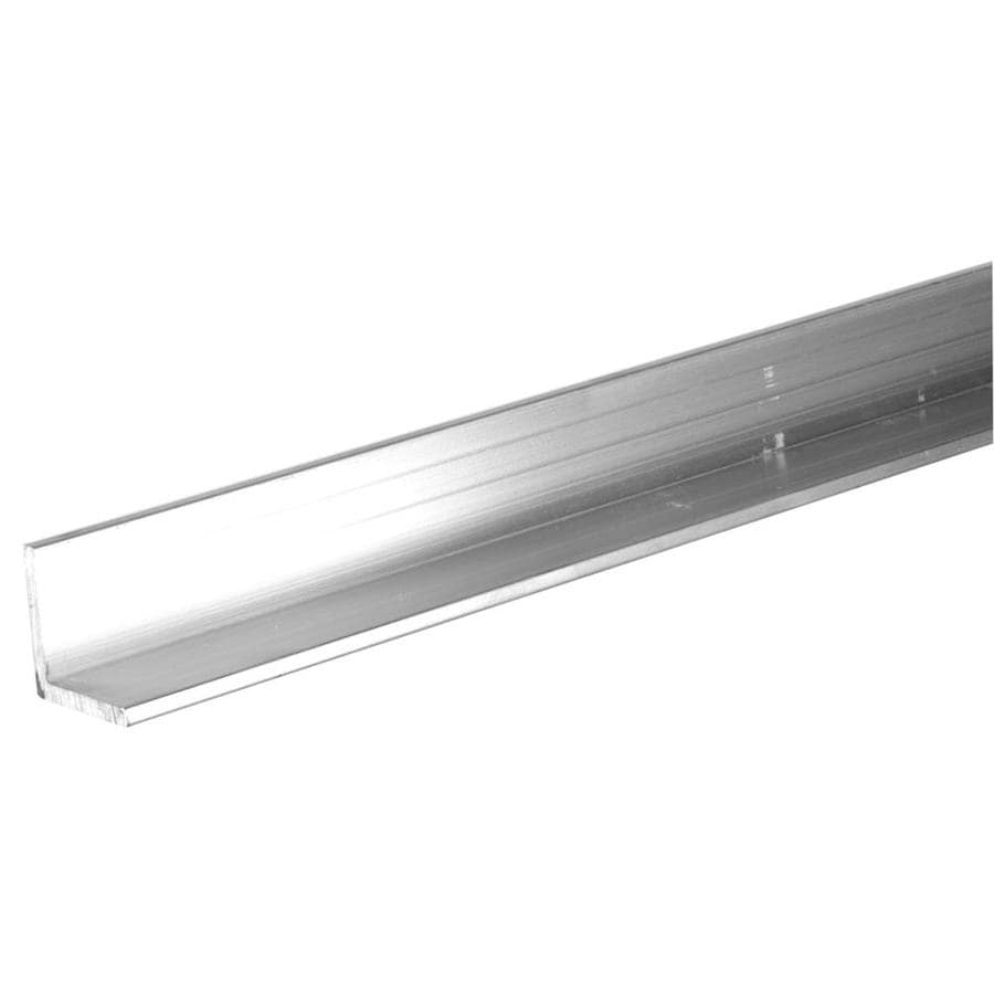 "Mill Finish Aluminum Angle 4 Foot Length 1/"" x 1/"" x 1//4/"" Wall"