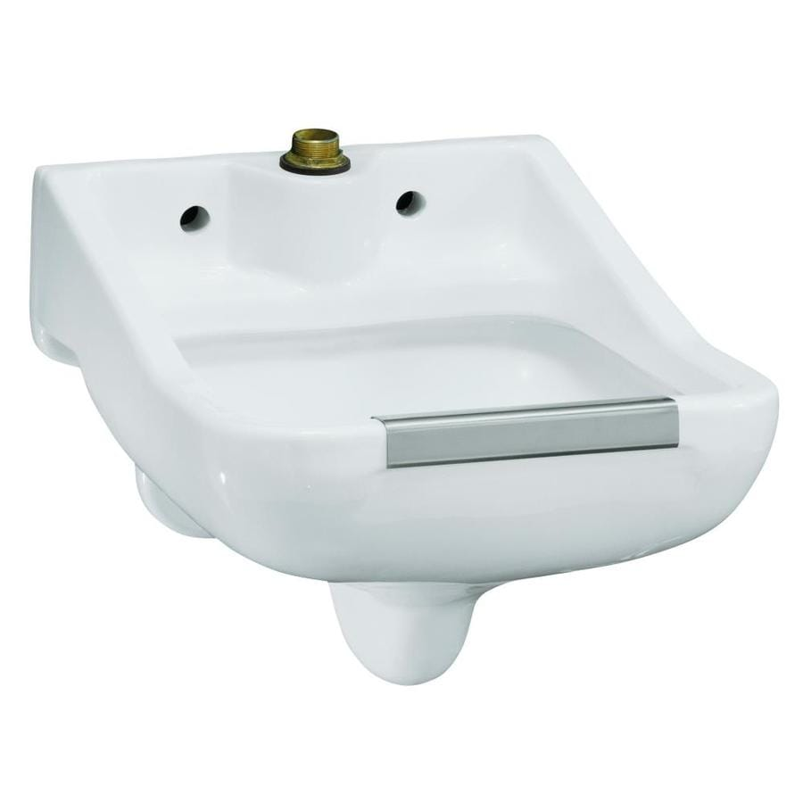 KOHLER 18.0000-in x 18.0000-in Single-Basin White Wall Mount Vitreous China Laundry Sink