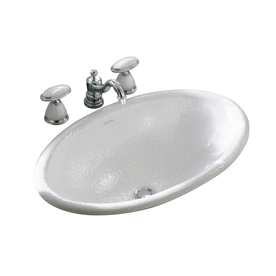 KOHLER Artist Edition Garland White Drop-in Oval Bathroom Sink