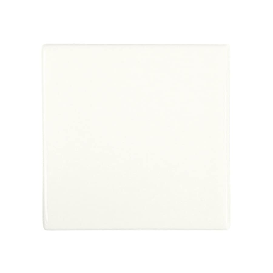 KOHLER 6-Pack White Glazed Porcelain Square Accent Tile (Common: 4-1/2-in x 4-1/2-in; Actual: 4.25-in x 4.25-in)