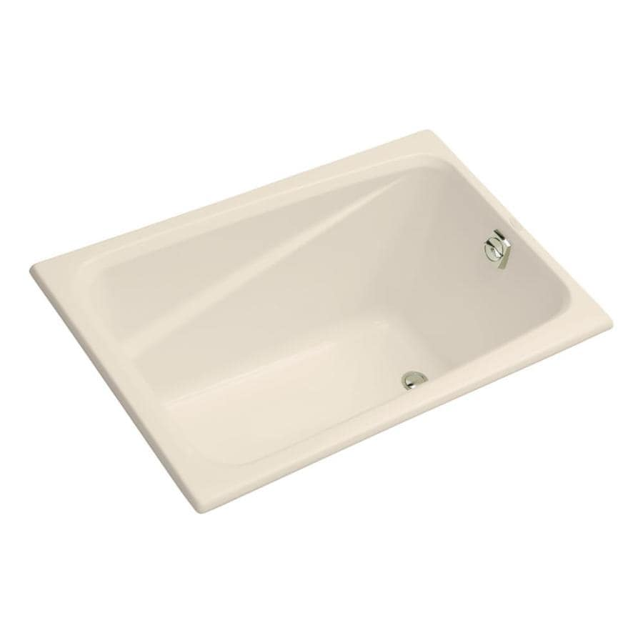 KOHLER Greek Almond Acrylic Rectangular Drop-in Bathtub with Reversible Drain (Common: 32-in x 48-in; Actual: 23.38-in x 32-in x 48-in)