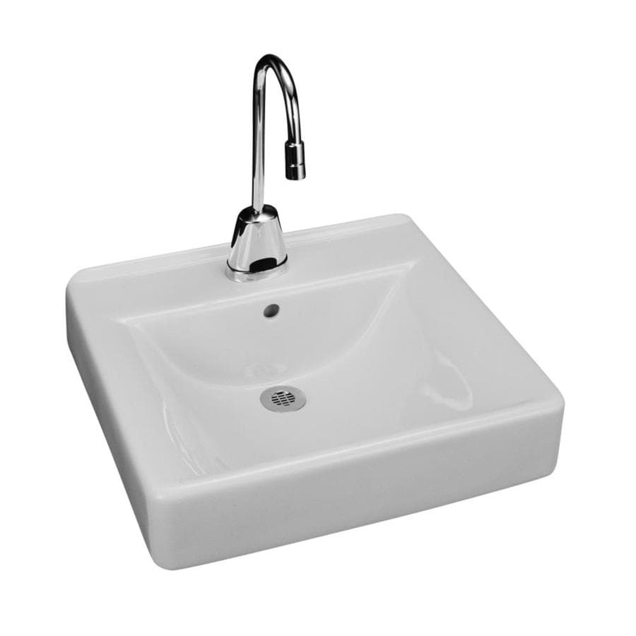 Kohler Soho White Wall Mount Rectangular Bathroom Sink With Overflow