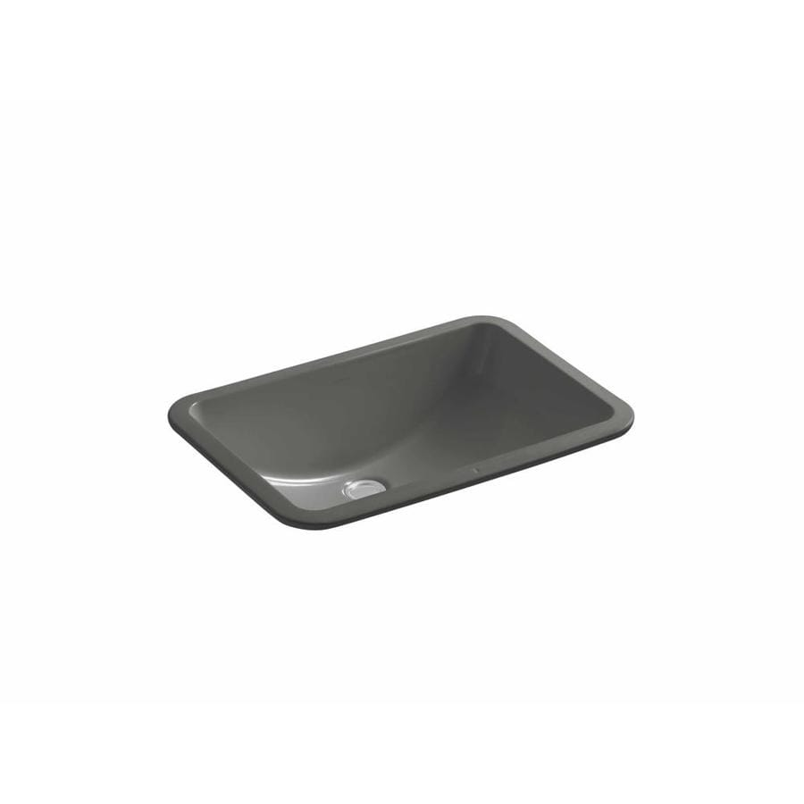 ladena thunder grey undermount rectangular bathroom sink with overflow