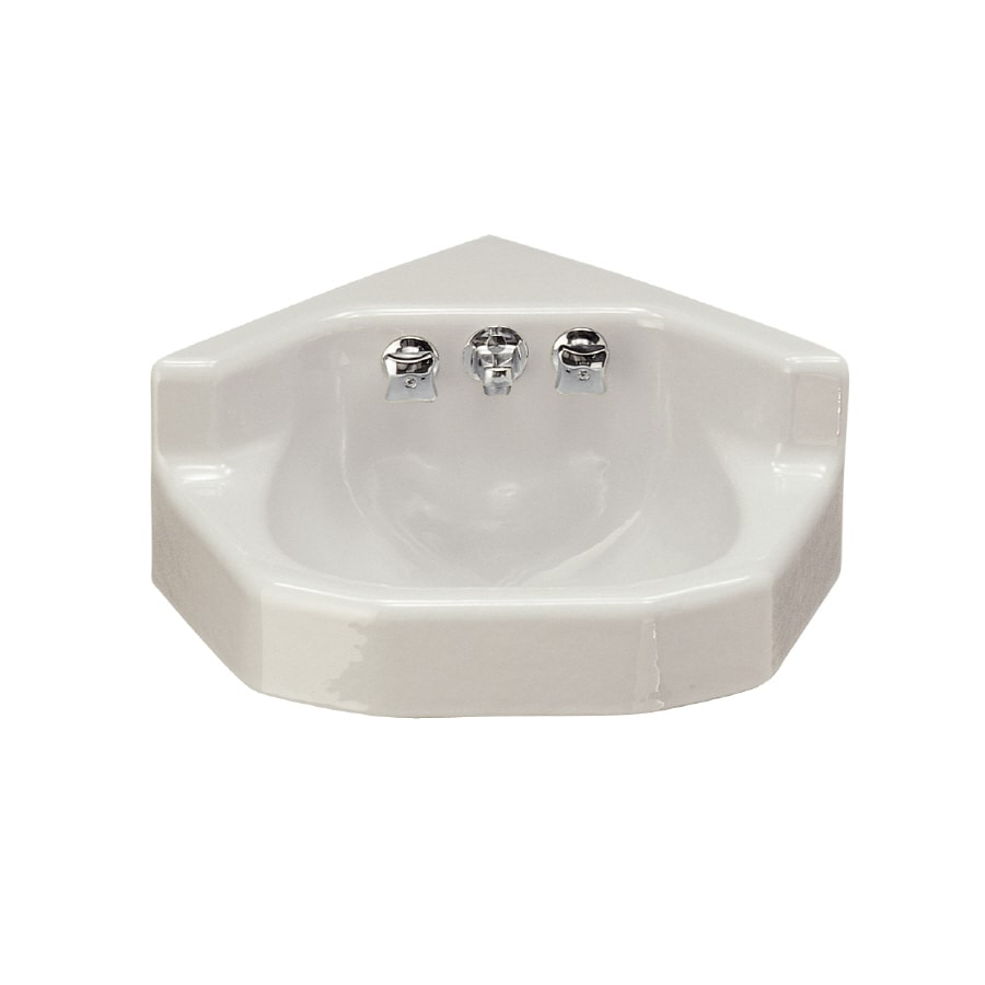 Shop kohler marston white cast iron wall mount oval bathroom sink with overflow at Kohler cast iron bathroom sink