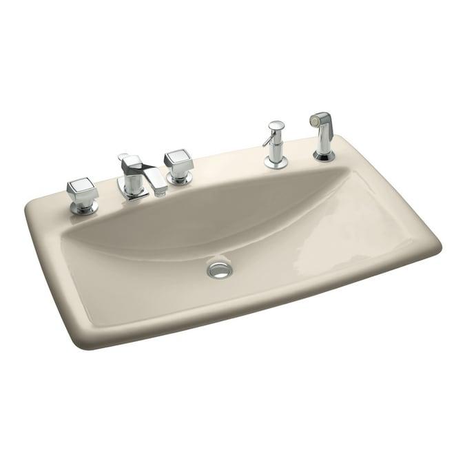 Kohler Man S Lav Almond Cast Iron Bath Sink In The Bathroom Sinks Department At Lowes Com