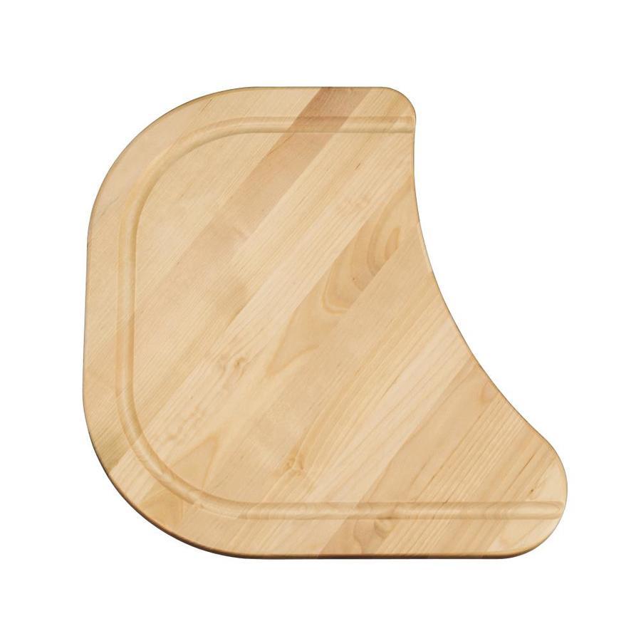 KOHLER 15-in L x 14-in W Wood Cutting Board