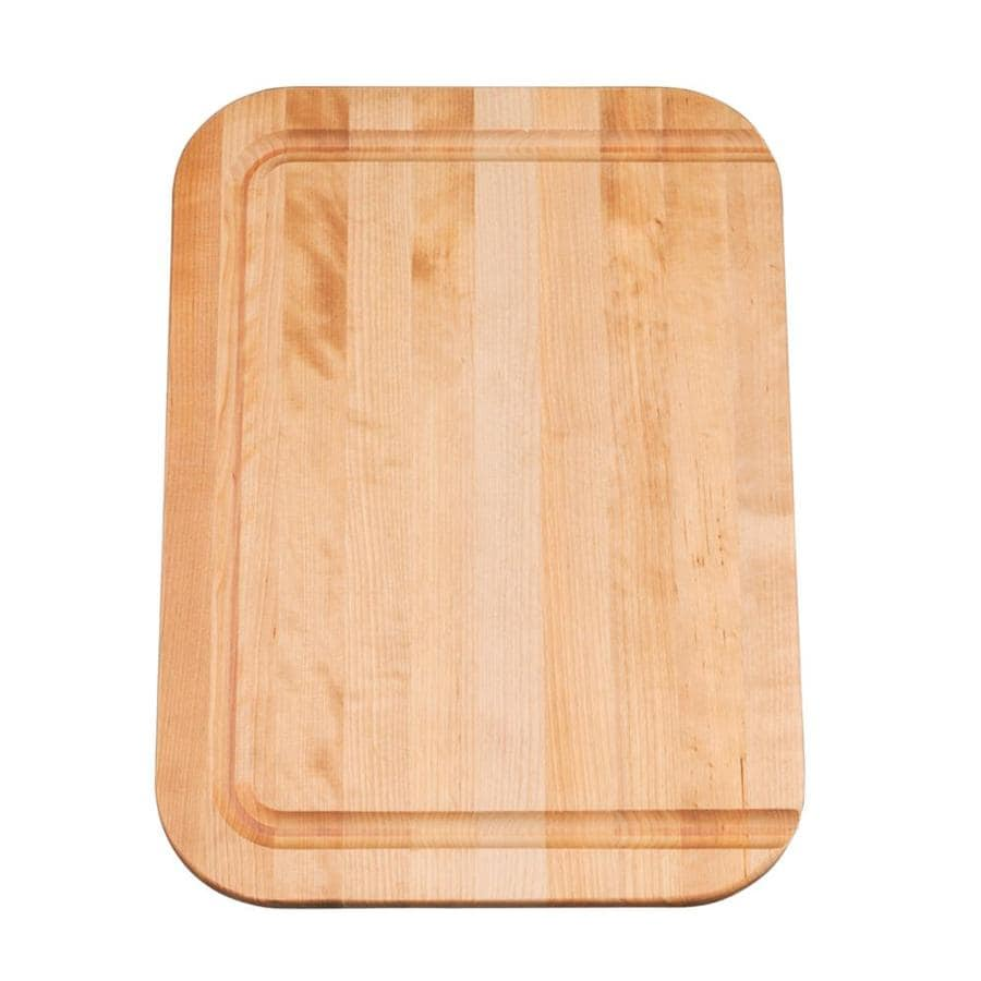 KOHLER 17-in L x 12-in W Wood Cutting Board