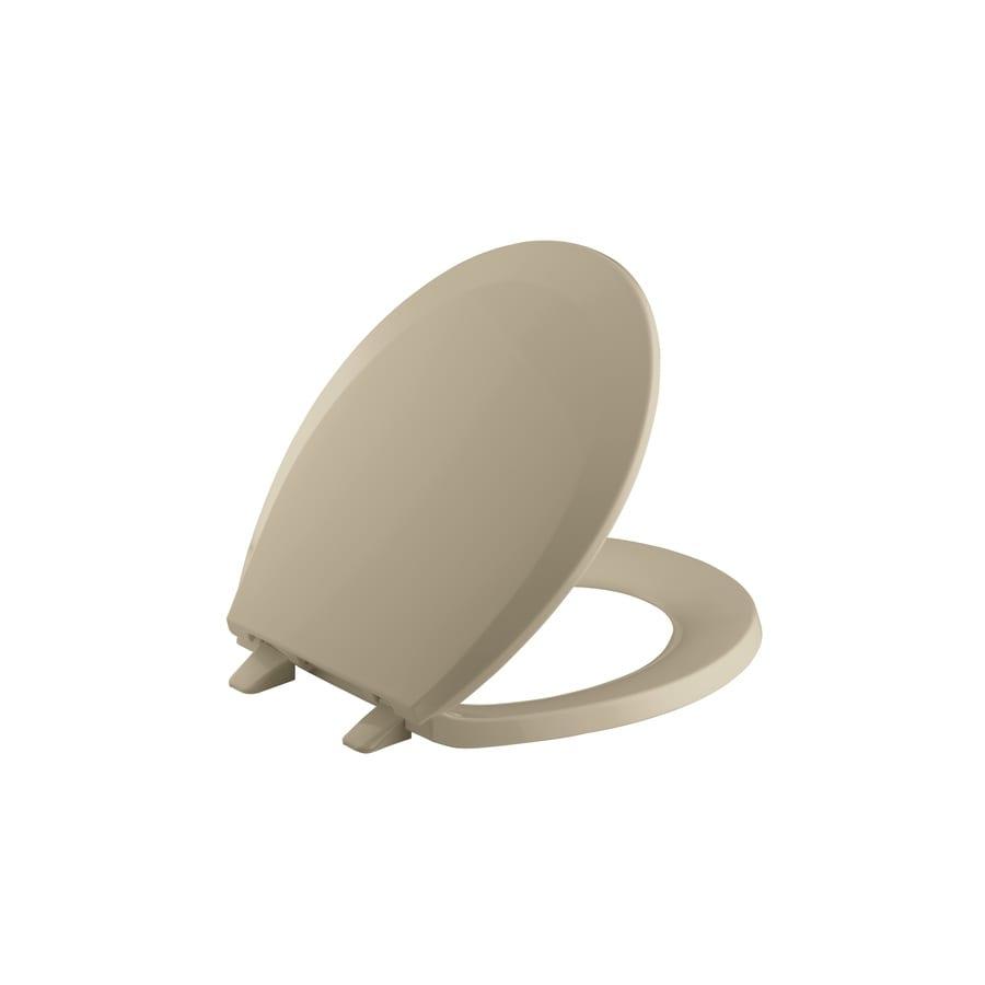 KOHLER Lustra Mexican Sand Plastic Round Toilet Seat