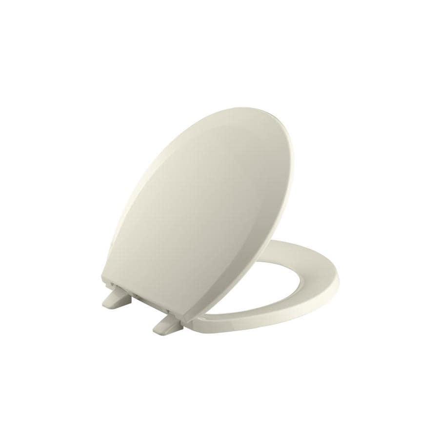 Kohler Lustra Plastic Round Toilet Seat At Lowes Com