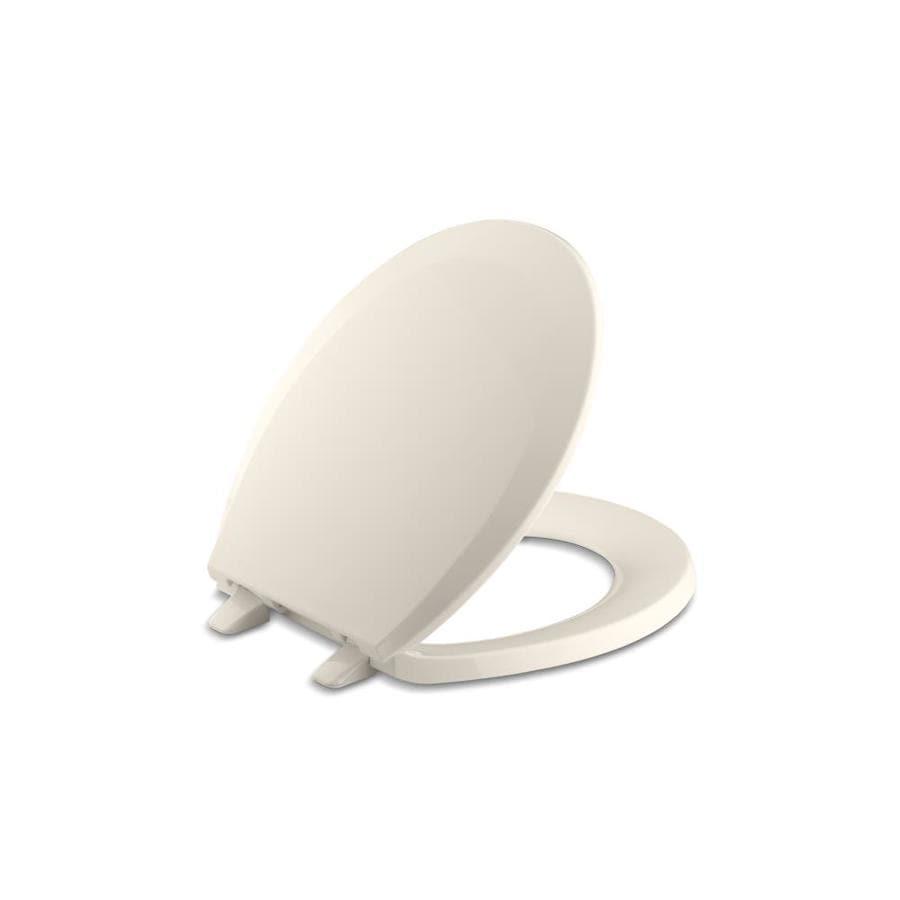 KOHLER Lustra Innocent Blush Plastic Round Toilet Seat
