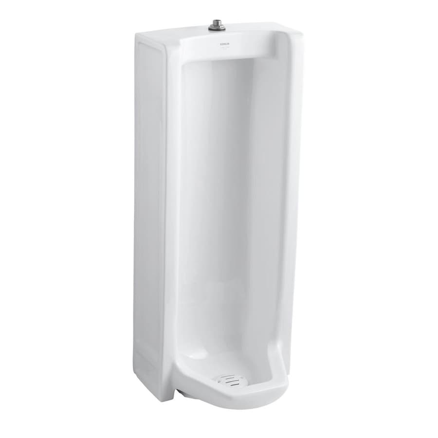 KOHLER 18.25-in W x 42.5-in H White Wall-Mounted Urinal