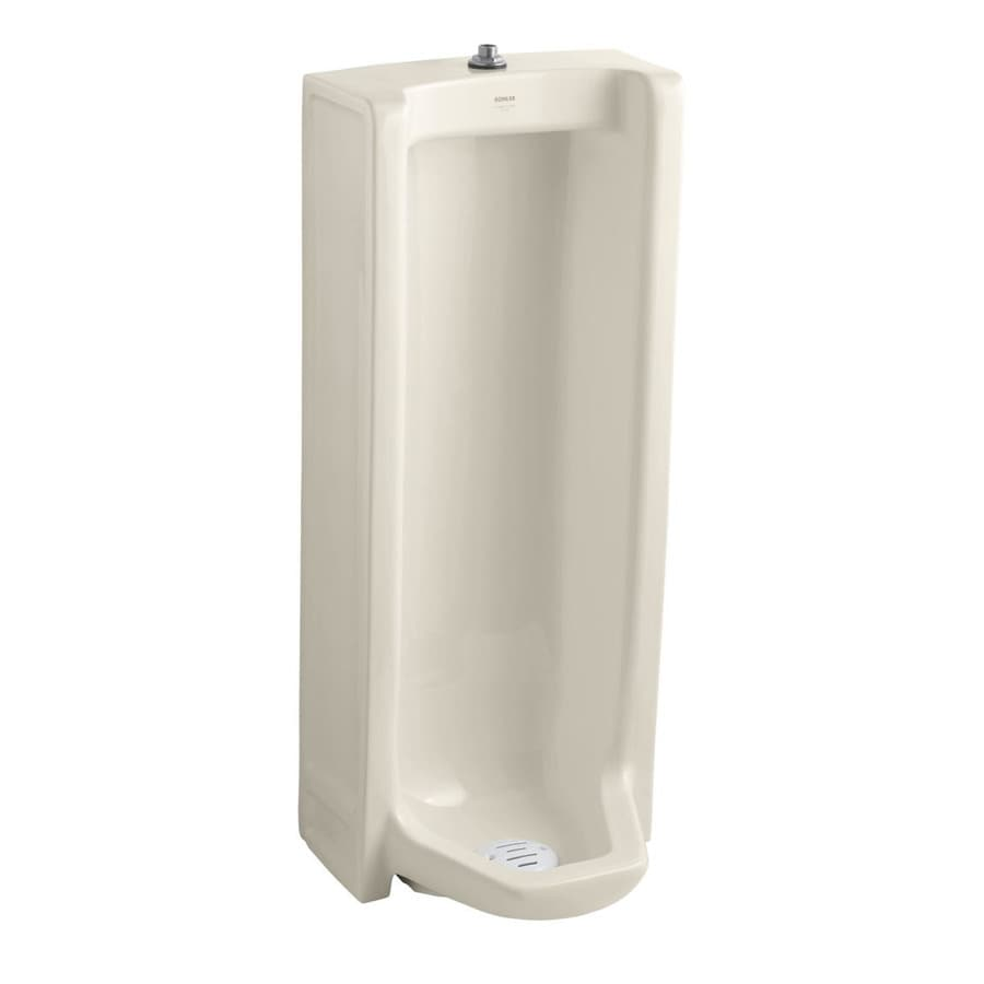 KOHLER 18.25-in W x 42.5-in H Almond Wall-Mounted Urinal