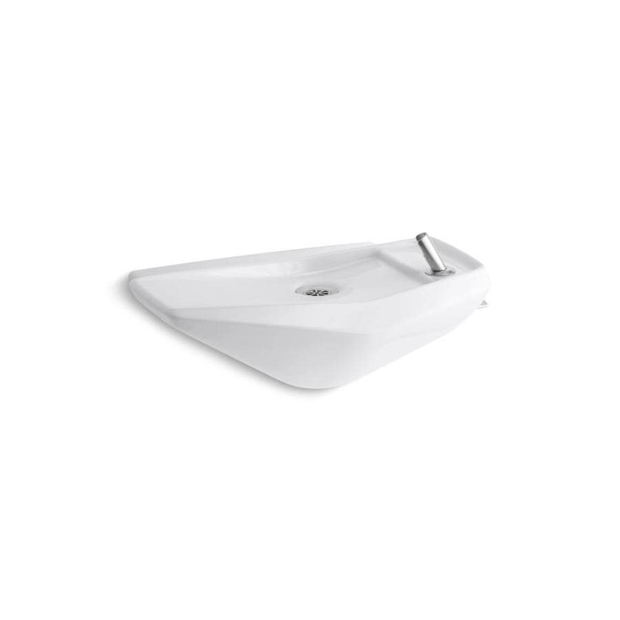 KOHLER Serra White Wall-Mount Elliptical Bathroom Sink