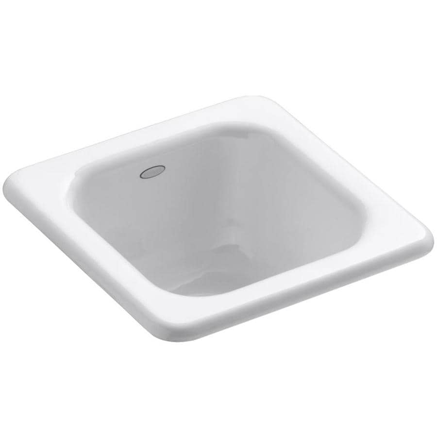 KOHLER Addison White Cast Iron Drop-in Commercial/Residential Bar Sink