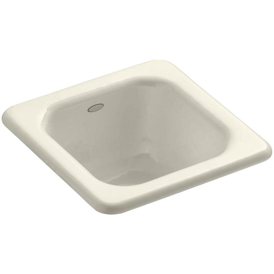 KOHLER Addison Almond Cast Iron Drop-in Commercial/Residential Bar Sink