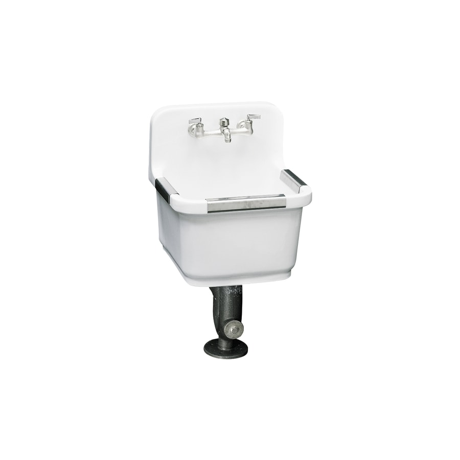 KOHLER 16-in x 19-in White Wall Mount Vitreous China Laundry Utility Sink