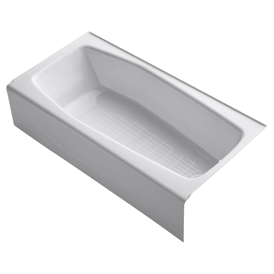 Shop KOHLER Villager 60-in White with Right-Hand Drain at ...