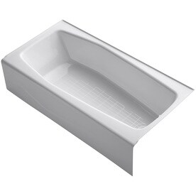 KOHLER Villager 60 In White With Right Hand Drain Bathtub