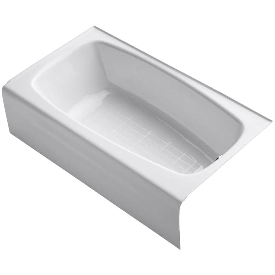 KOHLER Seaforth 54-in White Cast Iron Skirted Bathtub with Right-Hand Drain