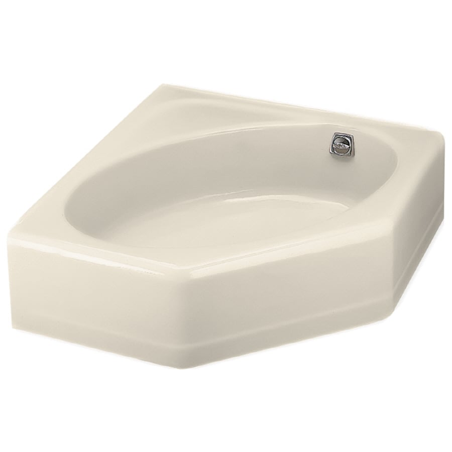 Elegant Shop KOHLER 48 In X 44 In Mayflower Almond Corner Skirted Bathtub .