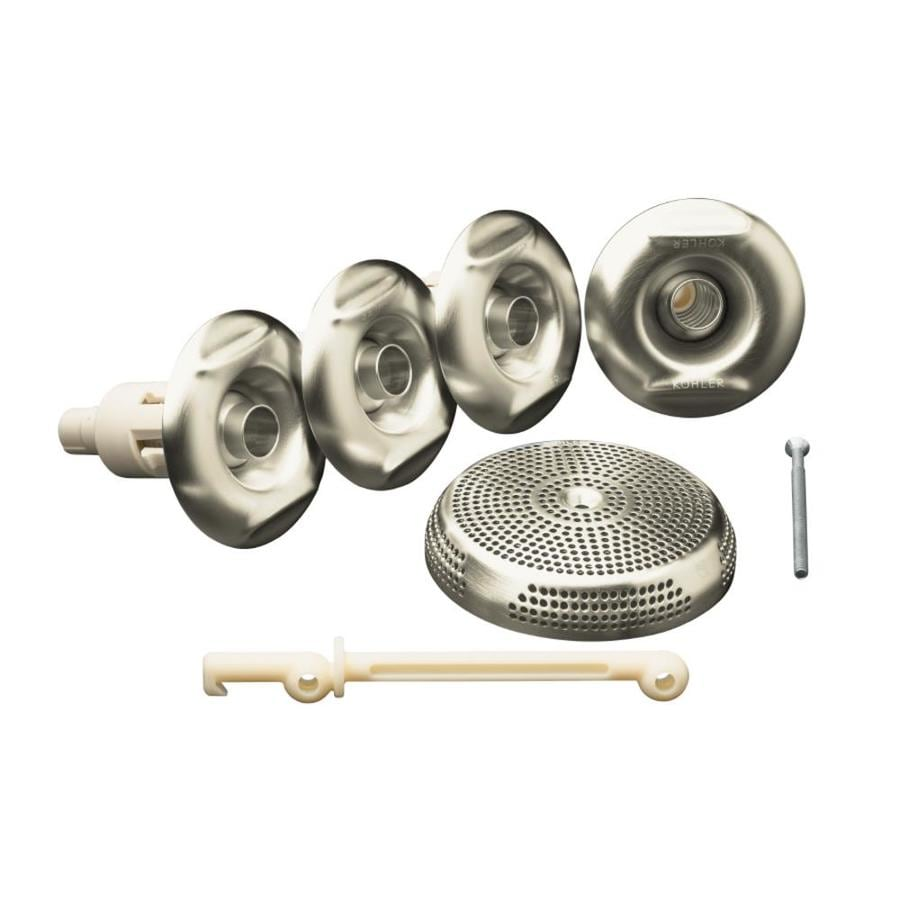 whirlpool trim kit with four jets vibrant brushed nickel at