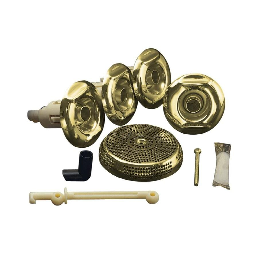 KOHLER Flexjet Whirlpool Trim Kit, Vibrant Polished Brass