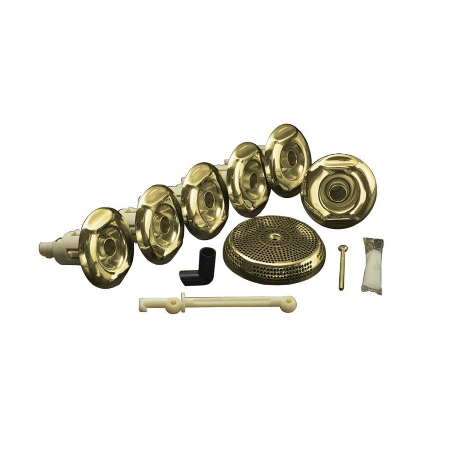 Shop KOHLER Whirlpool Trim Kit with Six Jets, Vibrant Polished Brass ...