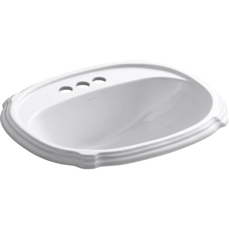 Shop Kohler Portrait White Drop In Oval Bathroom Sink With
