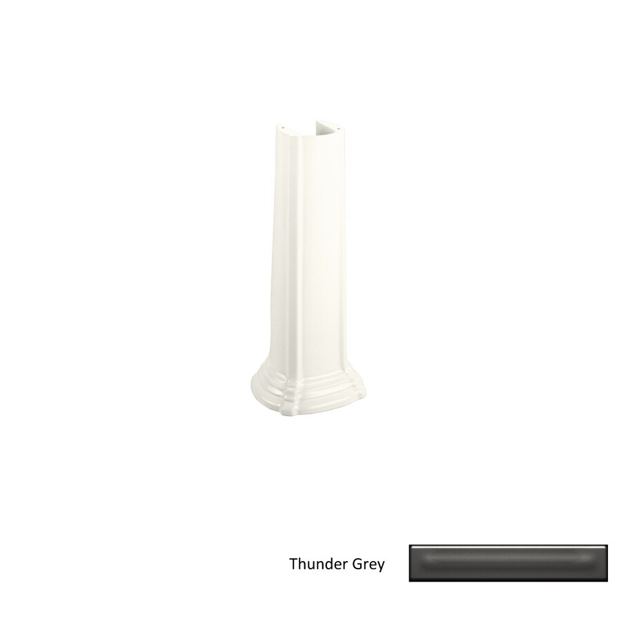 Kohler Pedestal Sink Lowes : Shop KOHLER 26.13-in H Thunder Grey Vitreous China Pedestal Sink Base ...