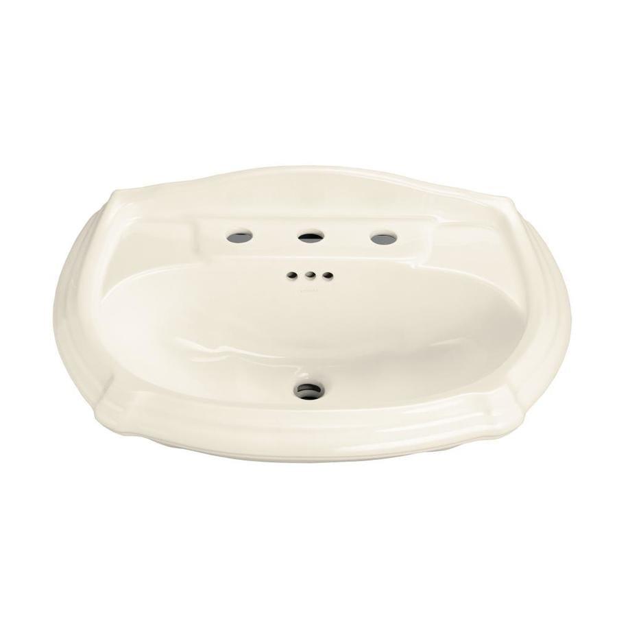 KOHLER Portrait 27-in L x 19.375-in W Almond Vitreous China Oval Pedestal Sink Top