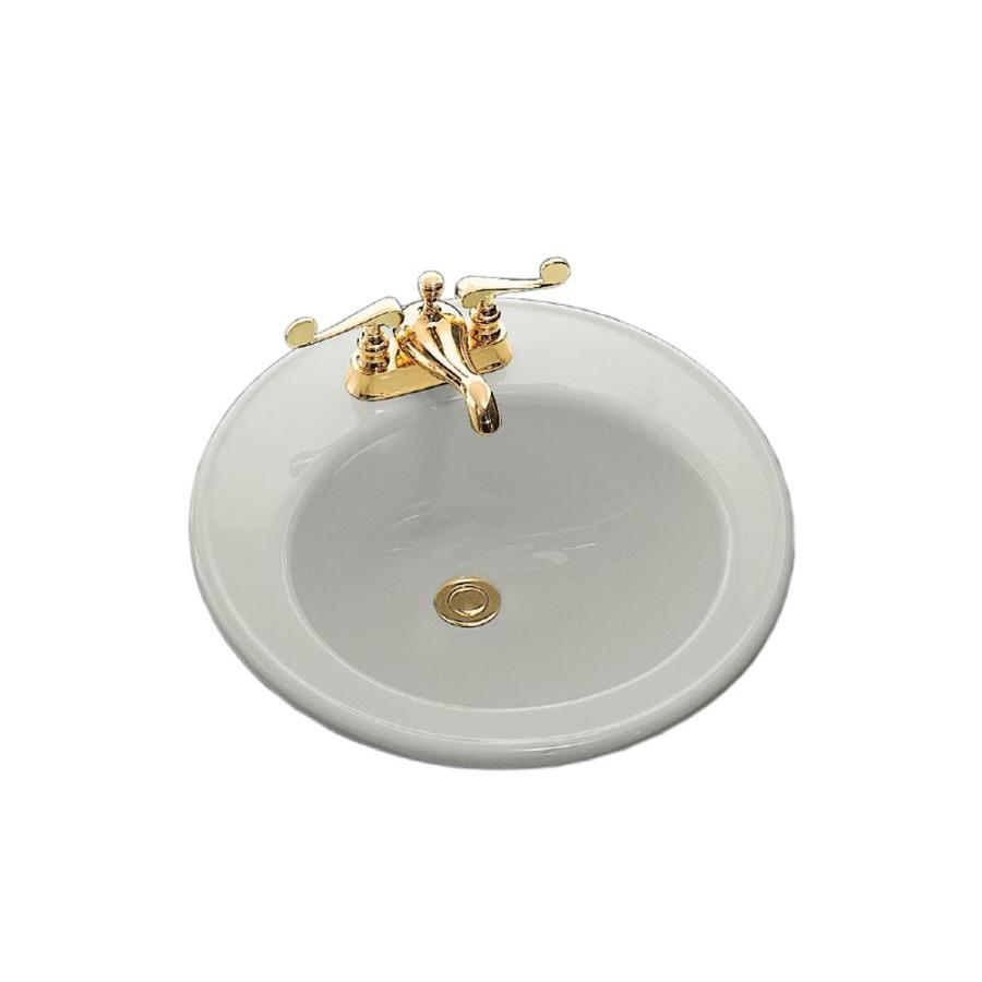 Kohler Brookline Ice Grey Drop In Round Bathroom Sink With
