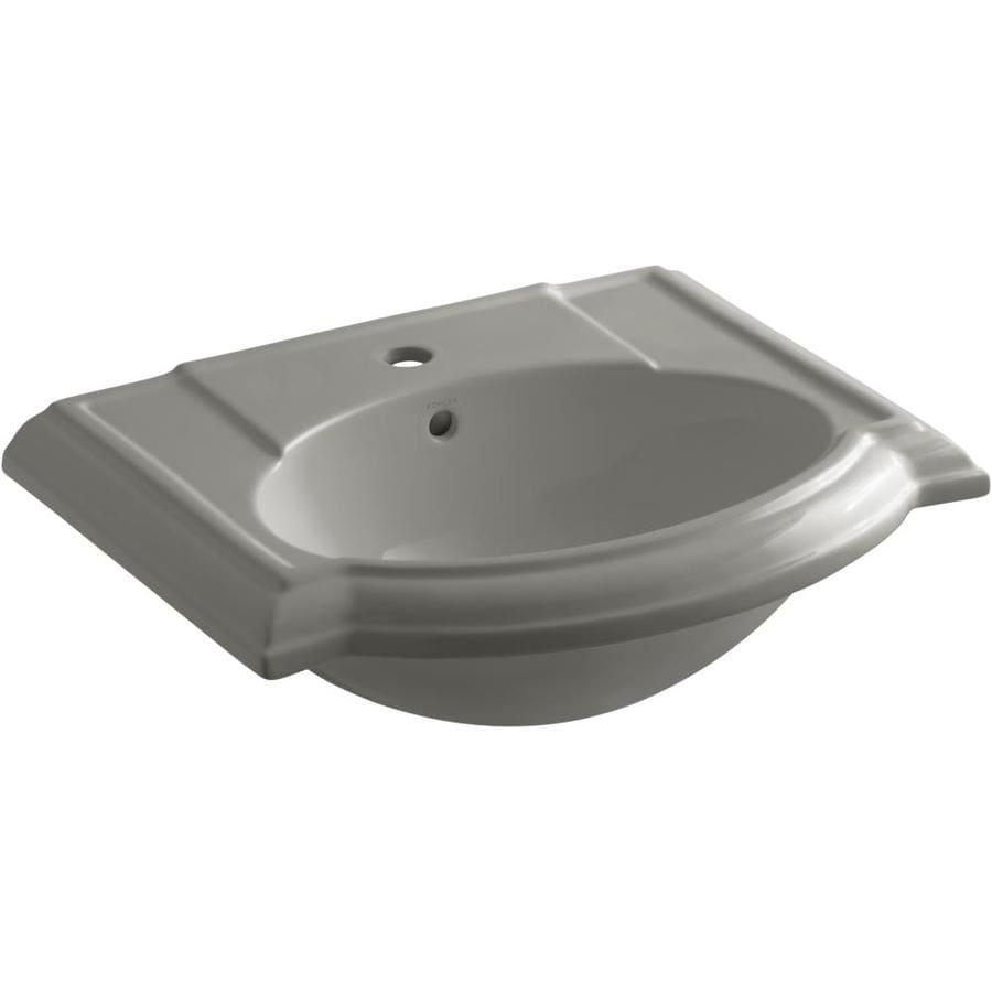 Shop KOHLER Ladena Ice Grey Undermount Rectangular Bathroom Sink with ...