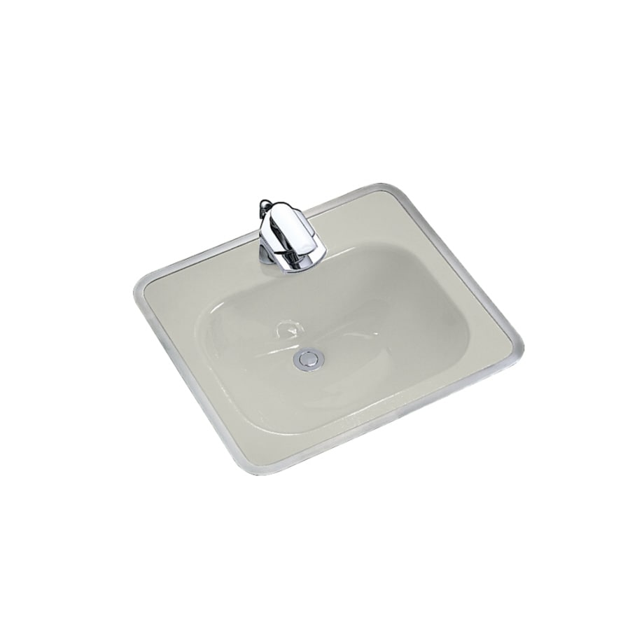 Shop Kohler White Cast Iron Drop In Rectangular Bathroom Sink With Overflow At