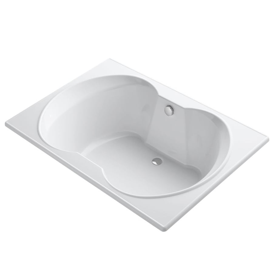 KOHLER Overture 60-in White Acrylic Drop-In Bathtub with Center Drain