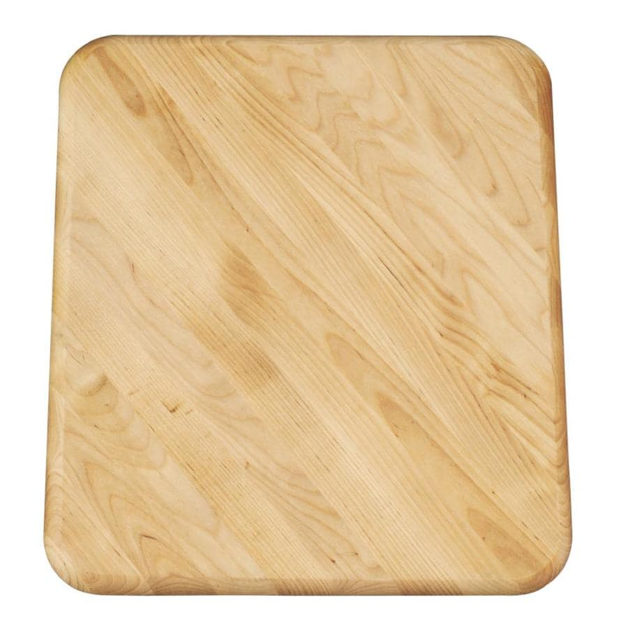 KOHLER 13.75-in L x 16.125-in W Wood Cutting Board